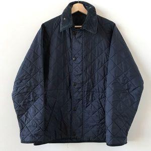Barbour navy blue quilted Transport jacket